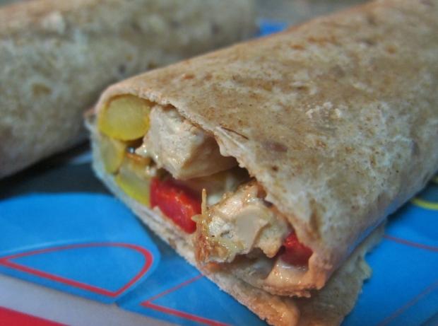 chicken-and-hummus-wrap