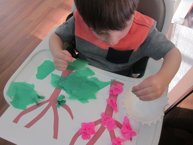 Tissue Paper Tree (5)