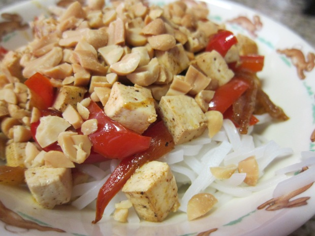 Peanut Noodles with Tofu (1)