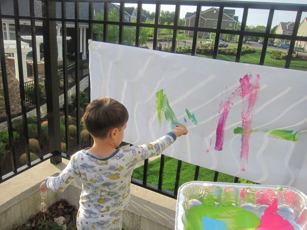 Paint on Fence (3)
