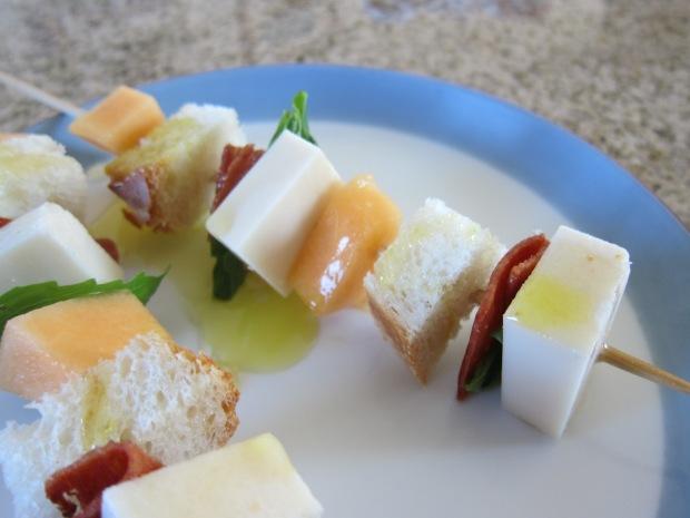 Cantaloupe Skewers (2)