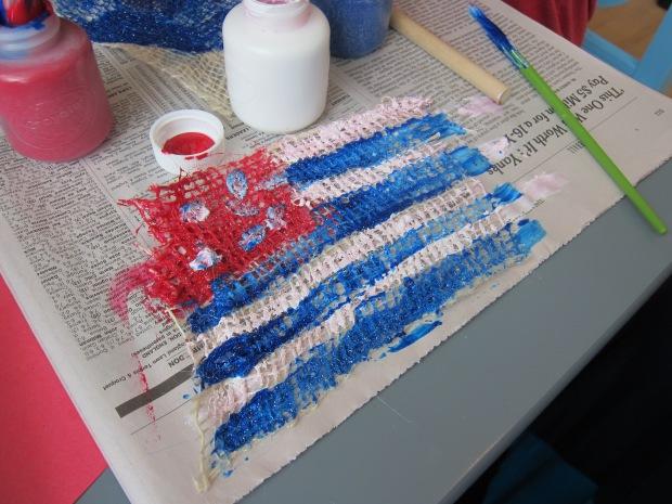 Burlap Flags (4)