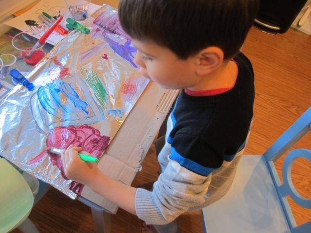 Aluminum Foil Painting (5)