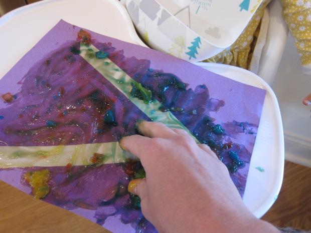 Finger Paint Tape Resist (3)