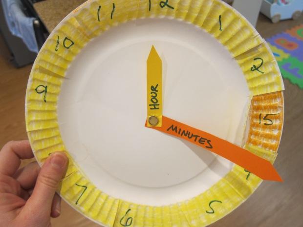 Paper Plate Clock (3)