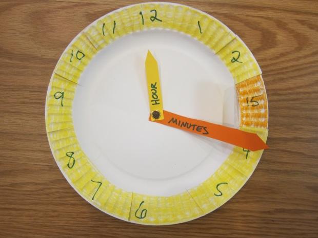 Paper Plate Clock (4)