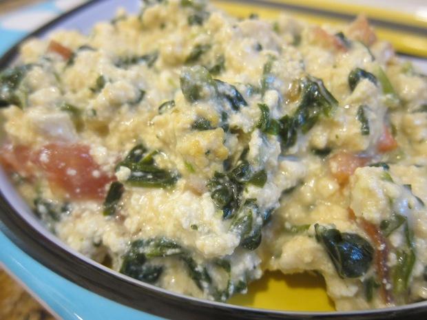 Spinach Tomato Scramble a