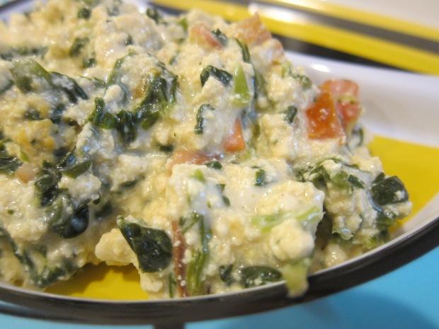 Spinach Tomato Scramble b