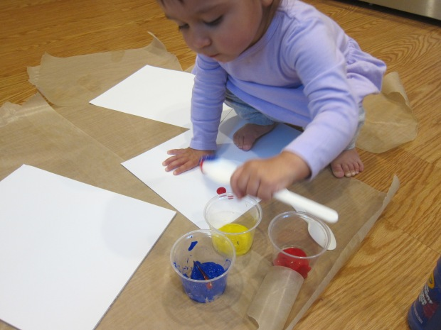 Cling Wrap Painting (1)