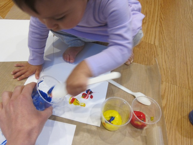 Cling Wrap Painting (2)