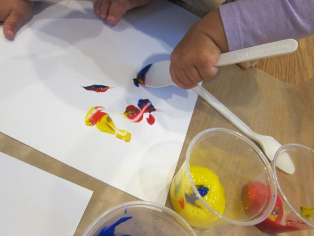 Cling Wrap Painting (3)