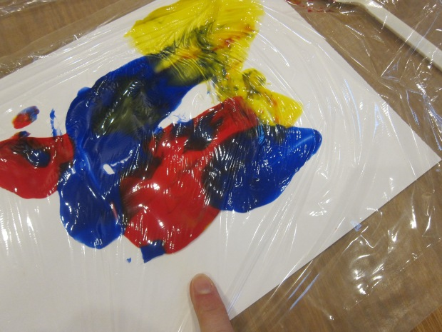 Cling Wrap Painting (5)