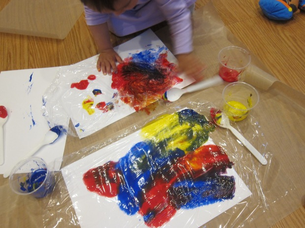 Cling Wrap Painting (6)