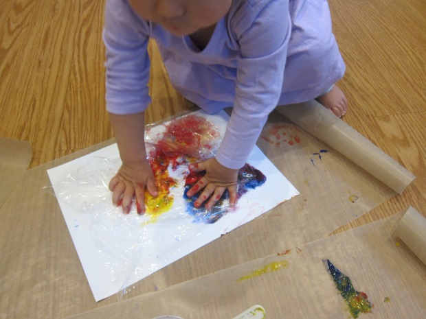 Cling Wrap Painting (7)