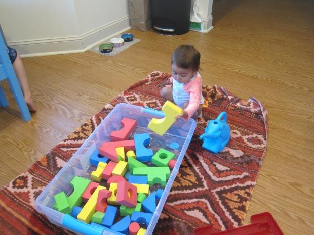 Foam Blocks in Water (3)
