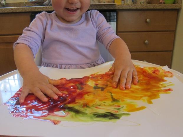 Food Color Fingerpaint (9)