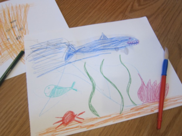 Watercolor Ocean Scene (2)