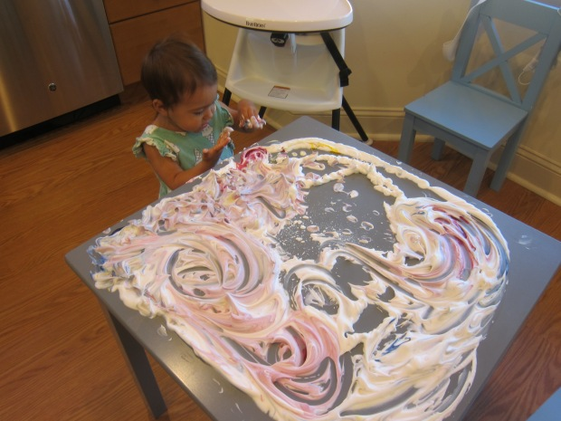 Shaving Cream Fingerpaint (11)