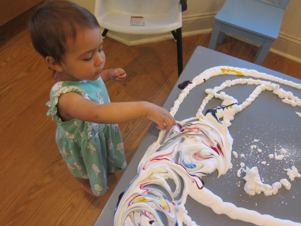 Shaving Cream Fingerpaint (4)