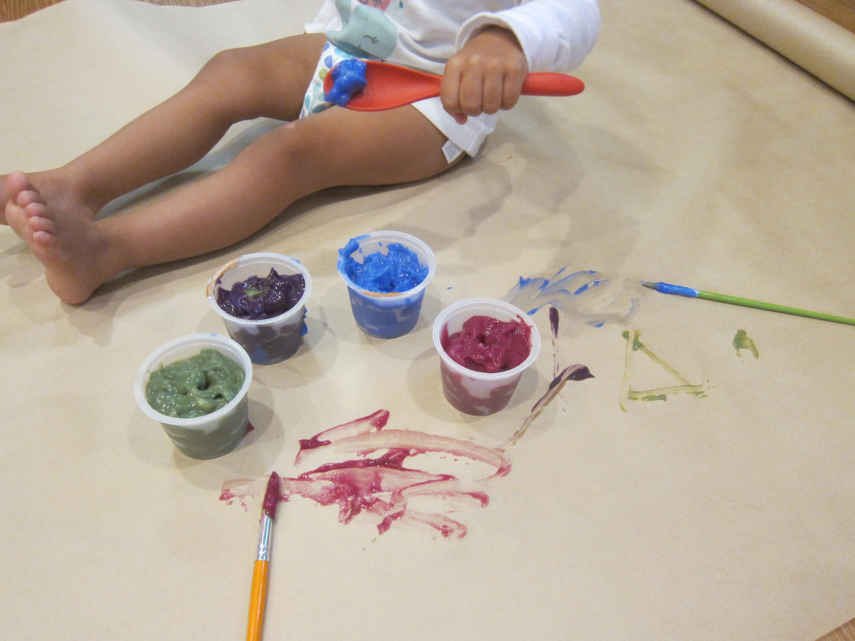 Edible Paint with Pudding Cups (4)