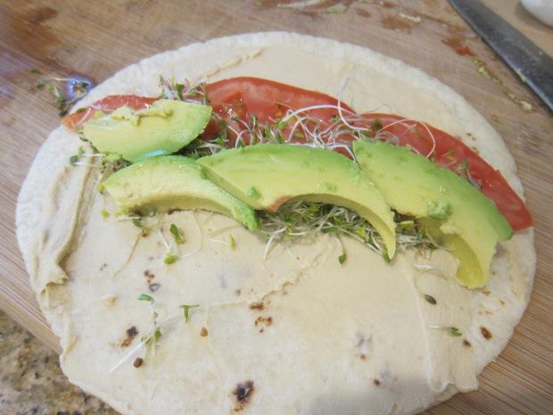 Hummus Veggie Wrap (1)