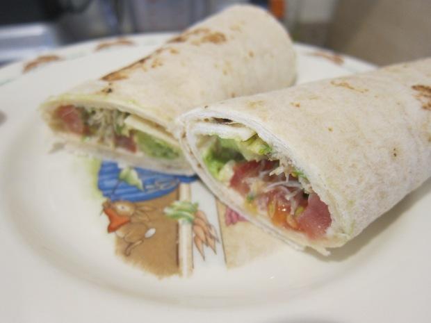 Hummus Veggie Wrap (2)