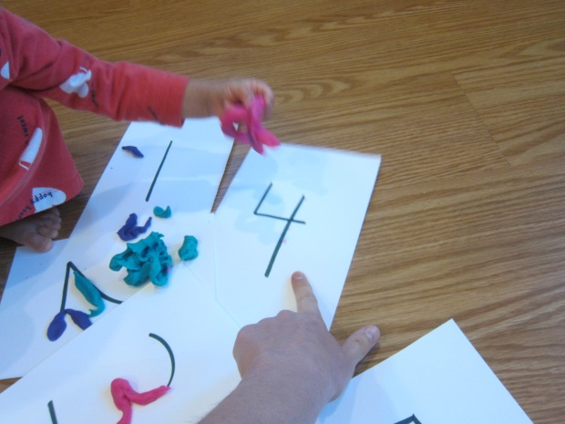 Playdough Numbers (4)