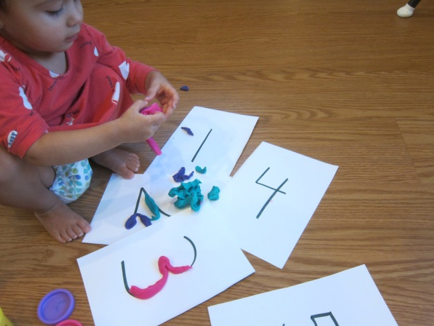 Playdough Numbers (5)