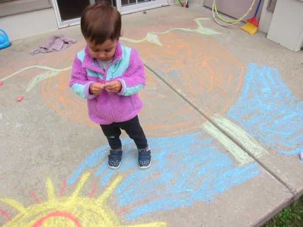 Halloween 5 chalk pumpkin (2)