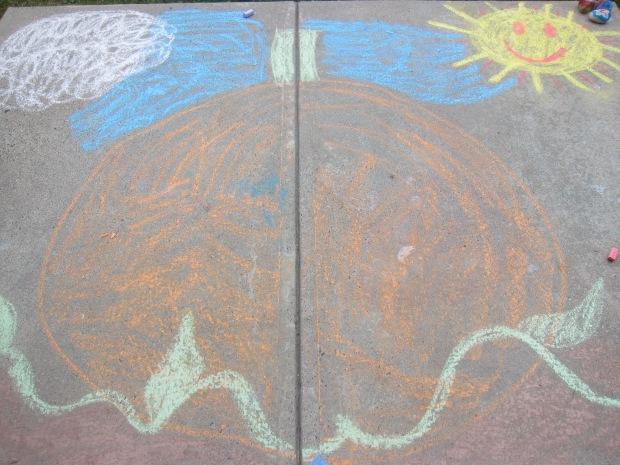Halloween 5 chalk pumpkin (3)