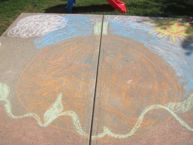 Halloween 5 chalk pumpkin (5)