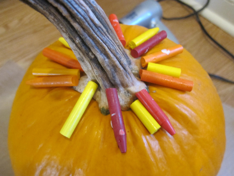 Melted Crayon Pumpkins (1)
