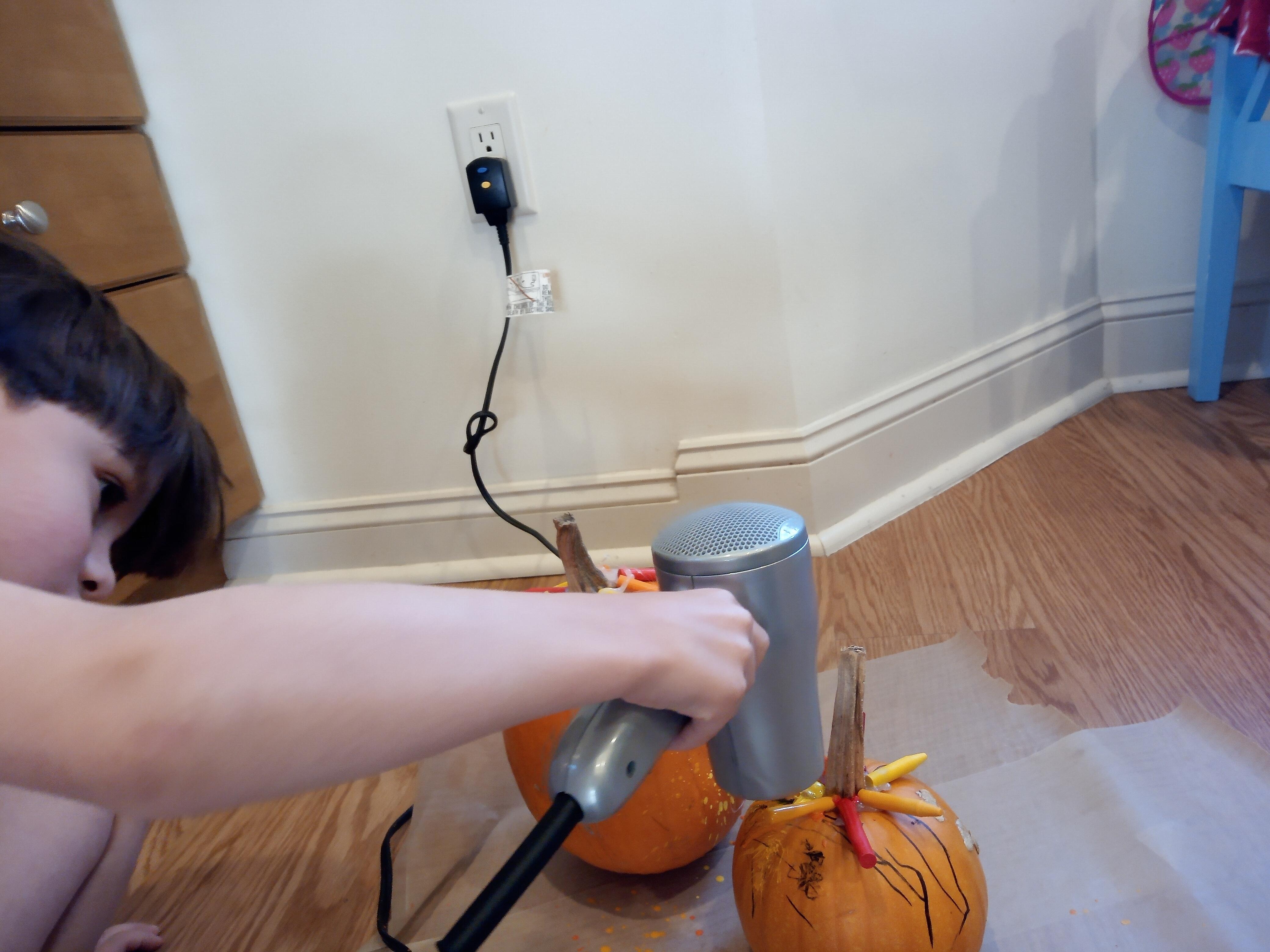 Melted Crayon Pumpkins (10)