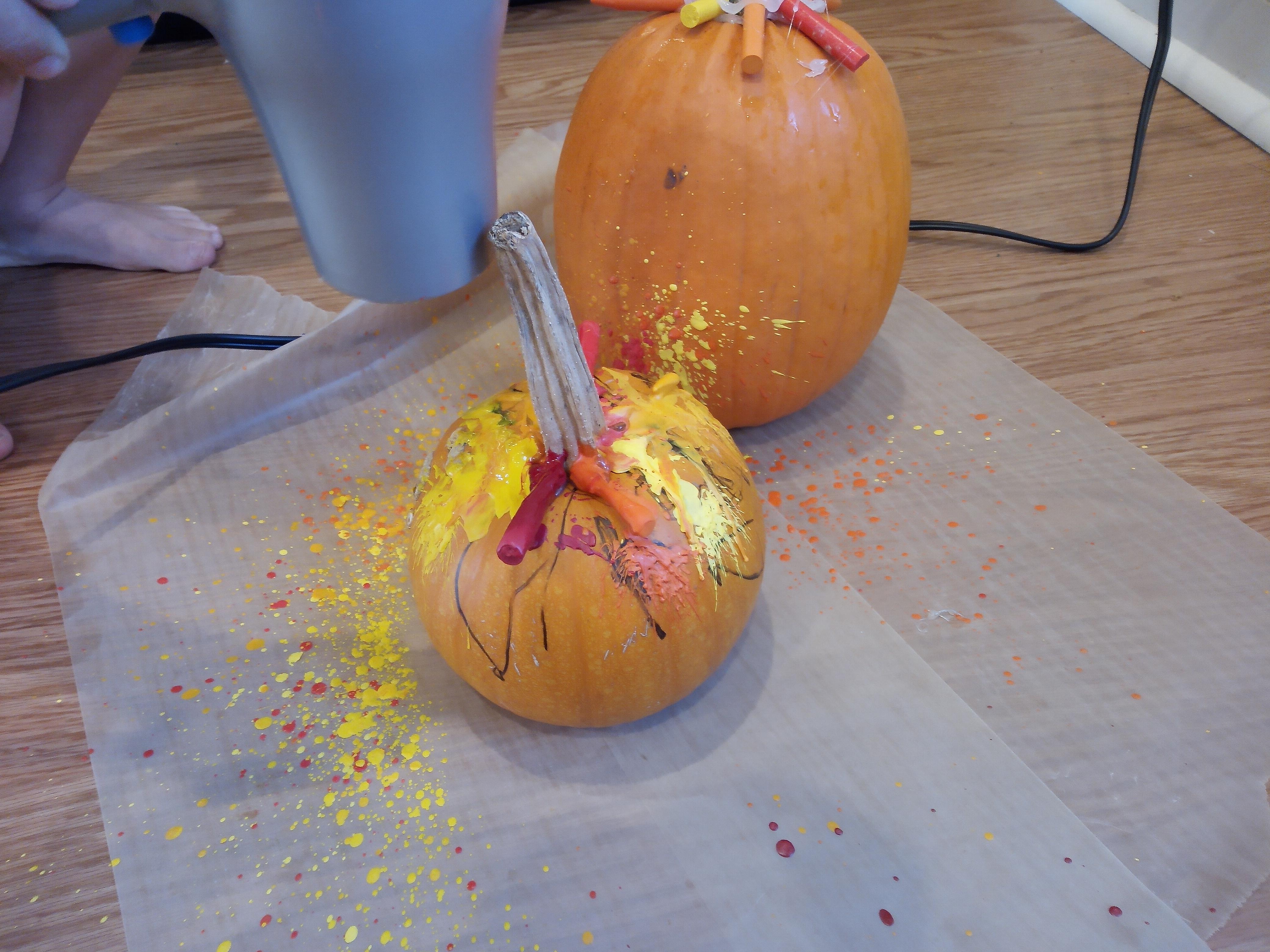 Melted Crayon Pumpkins (11)