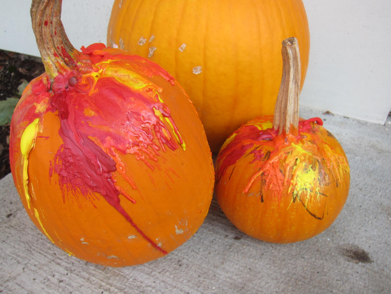 Melted Crayon Pumpkins (6)
