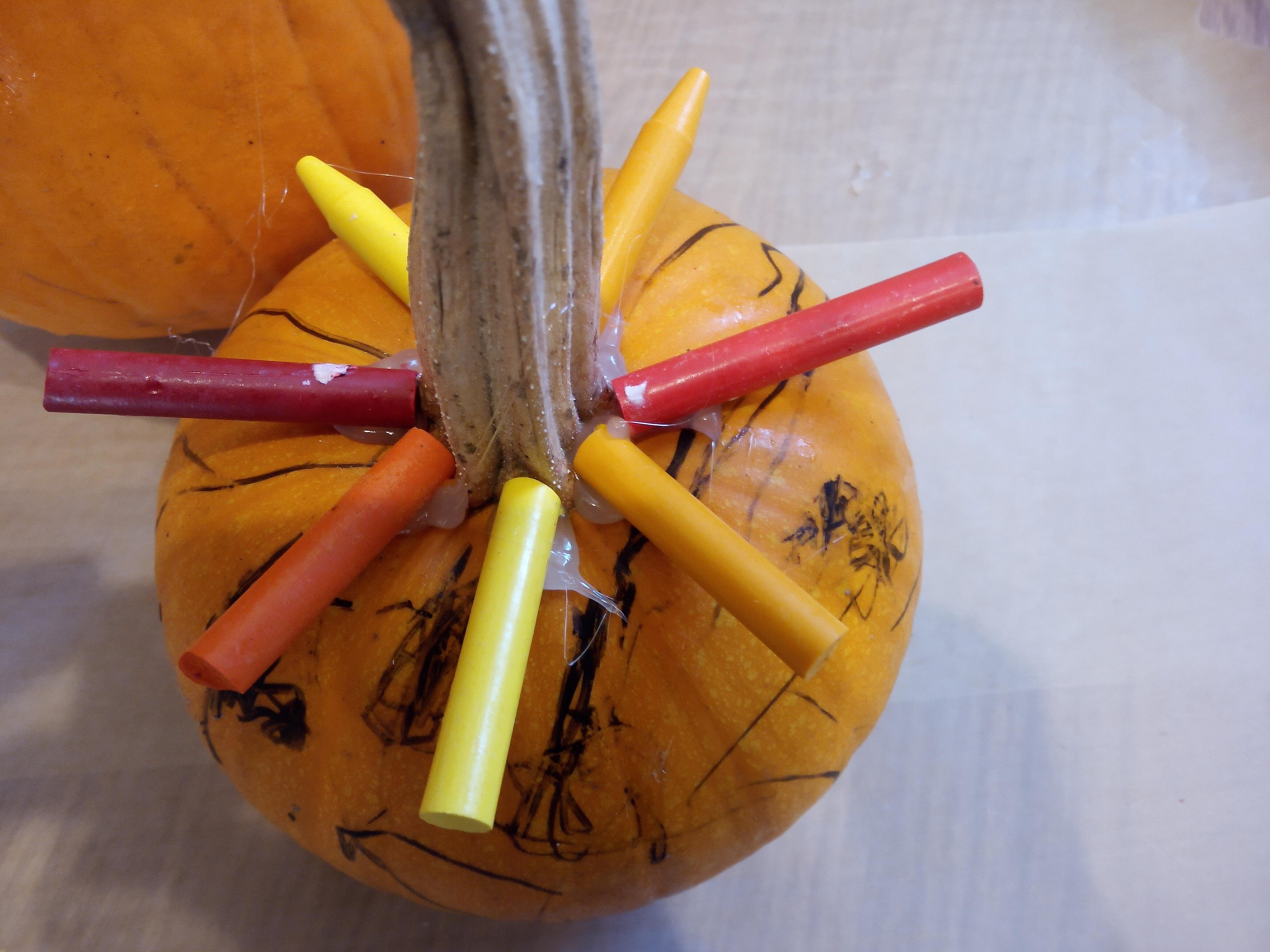 Melted Crayon Pumpkins (8)