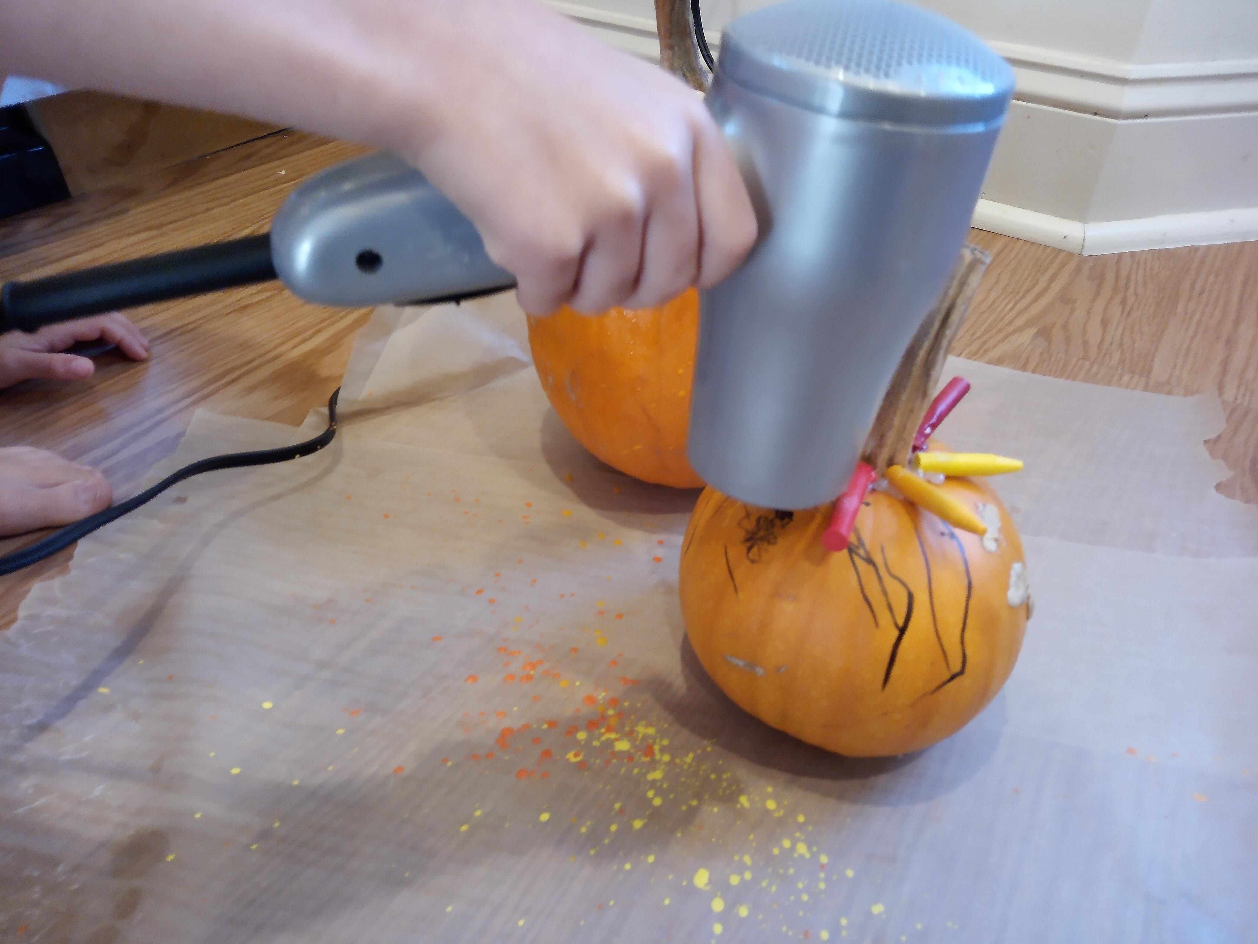 Melted Crayon Pumpkins (9)