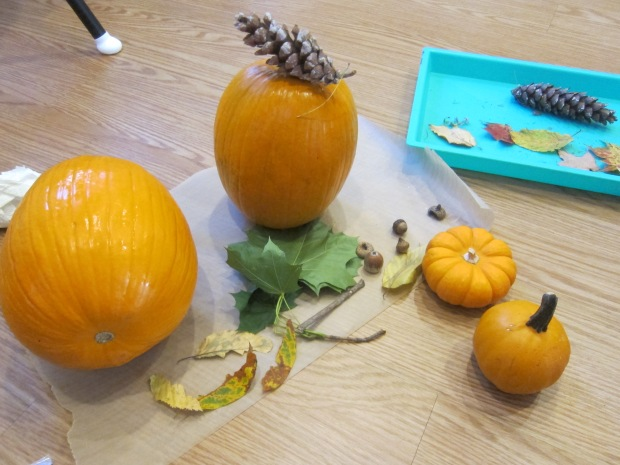 No-Carve Nature Pumpkins (4)