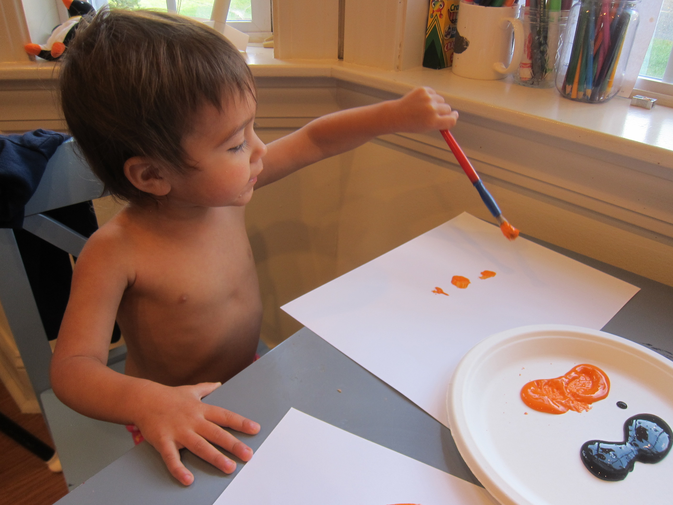 Pumpkin Art for Toddlers (1)