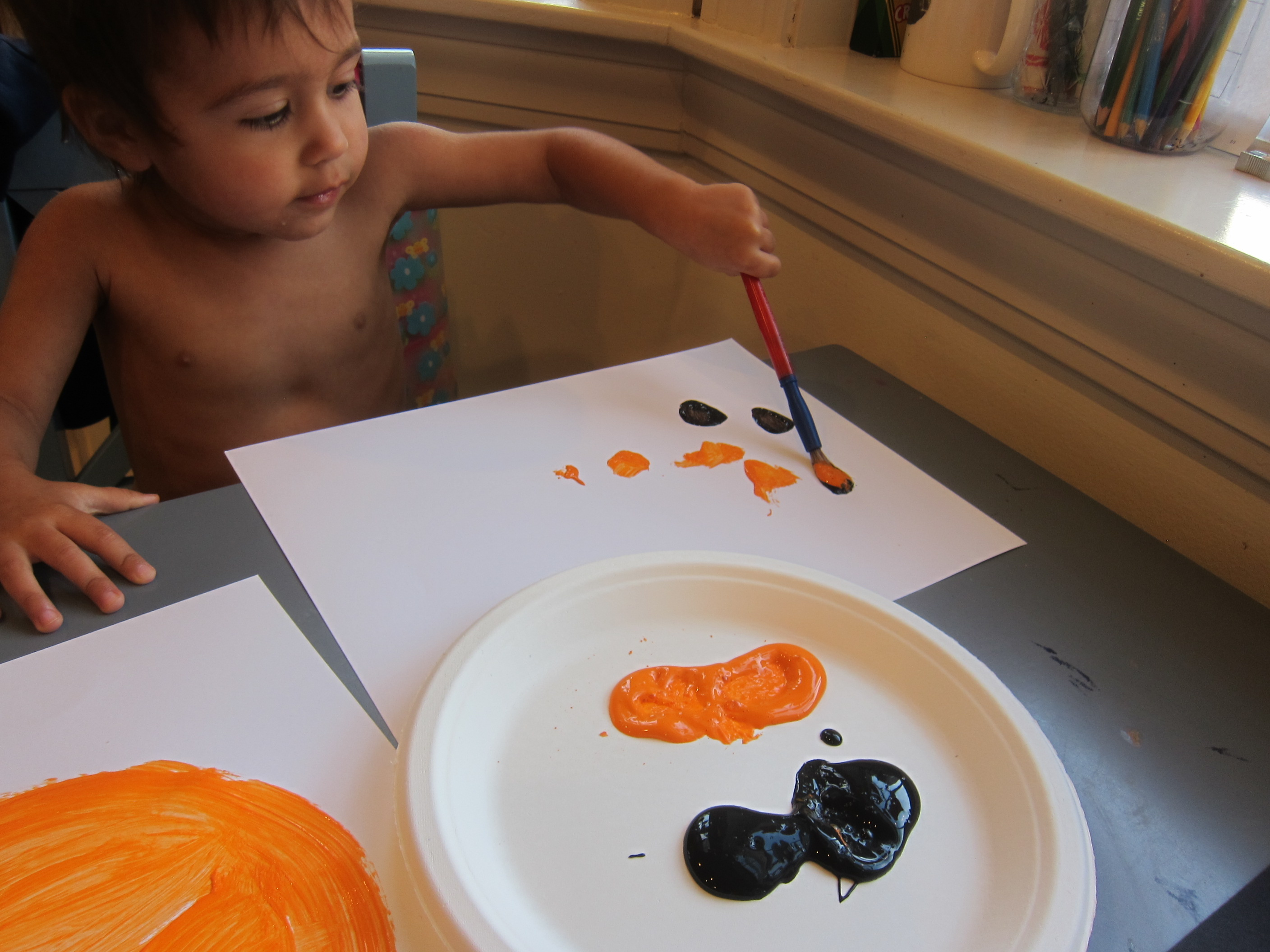 Pumpkin Art for Toddlers (2)