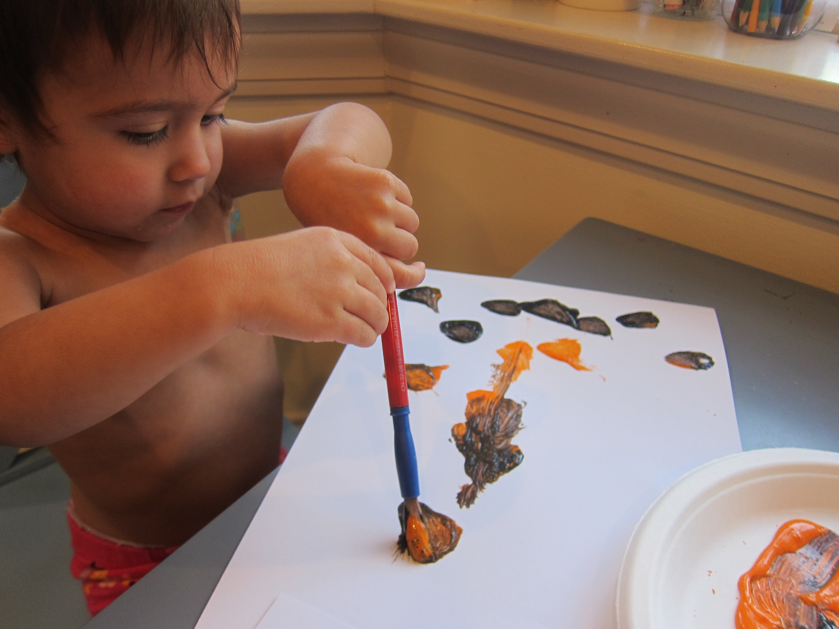 Pumpkin Art for Toddlers (5)