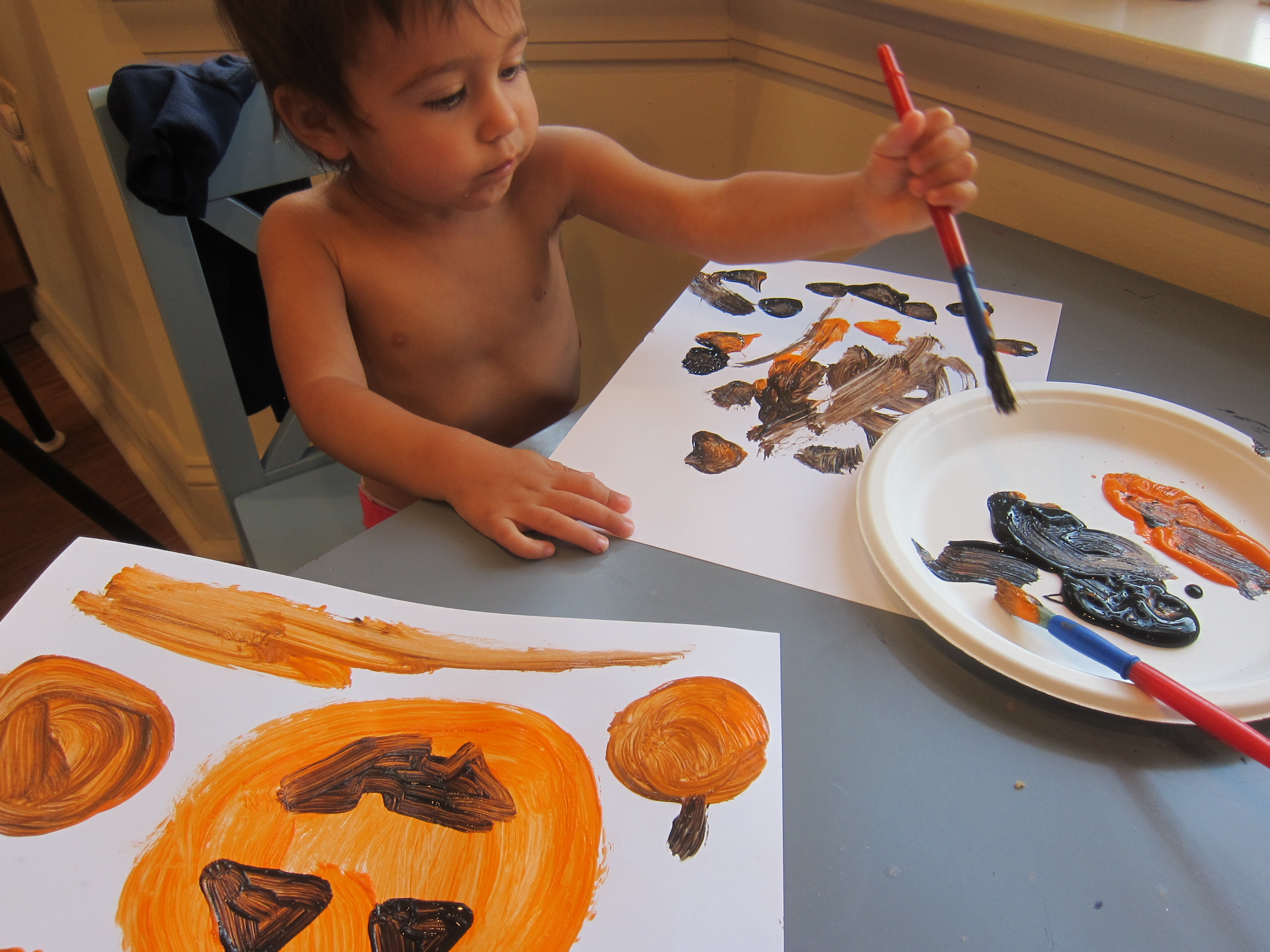 Pumpkin Art for Toddlers (6)
