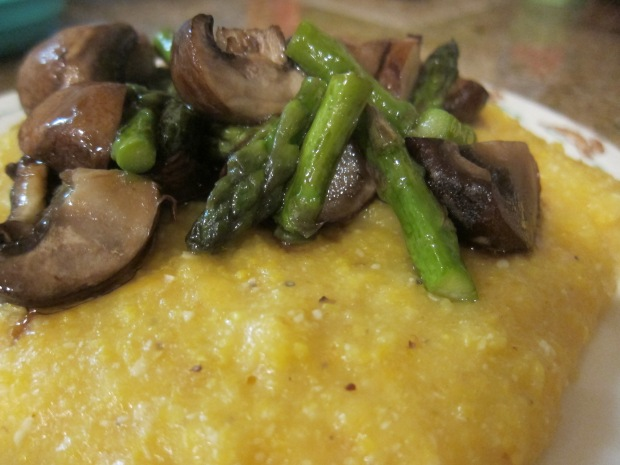 Cheesy Polenta with Roasted Vegetables (1)