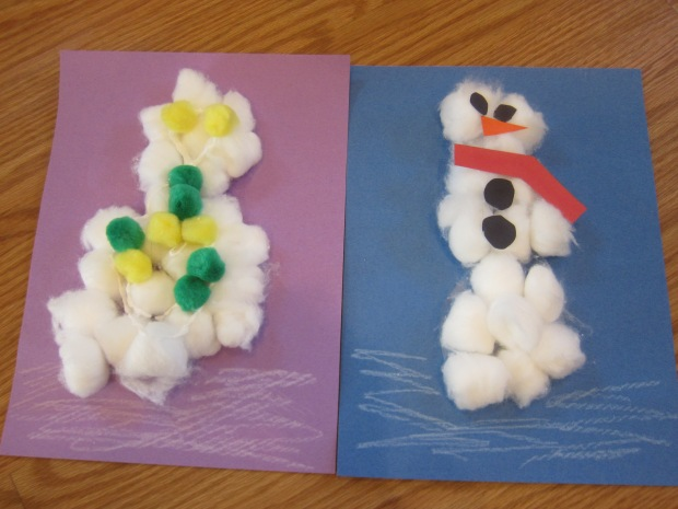 Cotton Ball Snowman Craft (11)