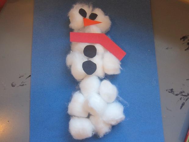 Cotton Ball Snowman Craft (6)