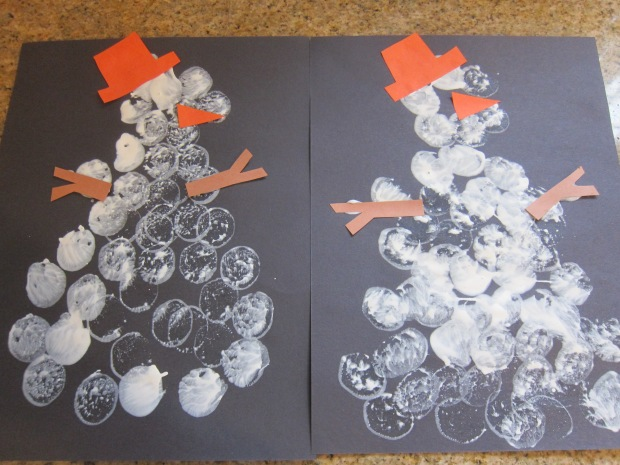 Marshmallow Snowman Stampers (6)