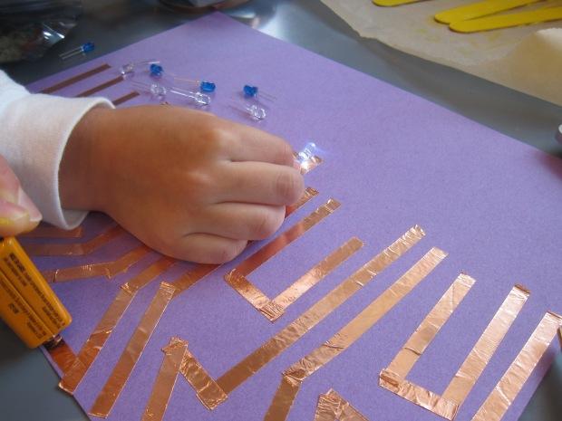 Paper Circuit Menorrah (3)