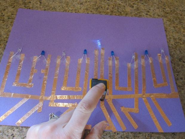 Paper Circuit Menorrah (6)
