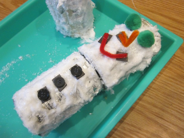 Snowman from Tin Cans (10)