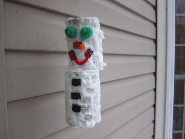 Snowman from Tin Cans (11)